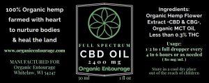 Full Spectrum CBD Oil (2400mg)